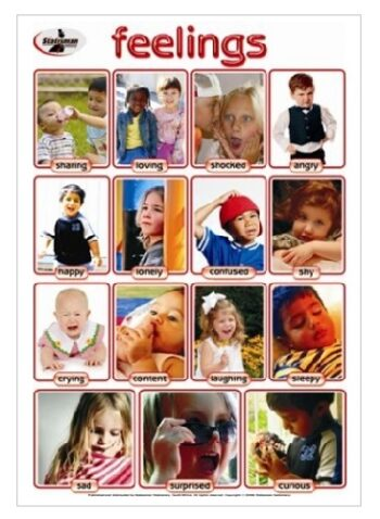 Feelings Write and Wipe Educational Poster