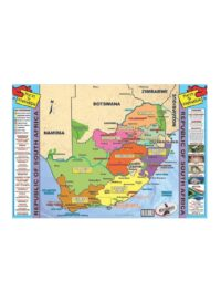 Republic of South Africa Map & info Poster
